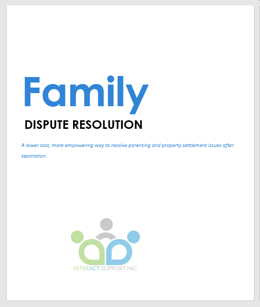 Family Dispute Resolution Booklet