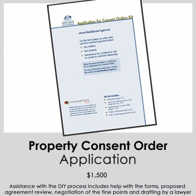 Property Consent Order Applications