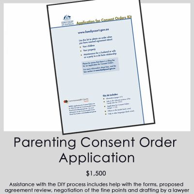Parenting Consent Order Application