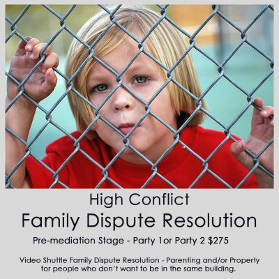 High Conflict Family Dispute Resolution Pre-Mediation session